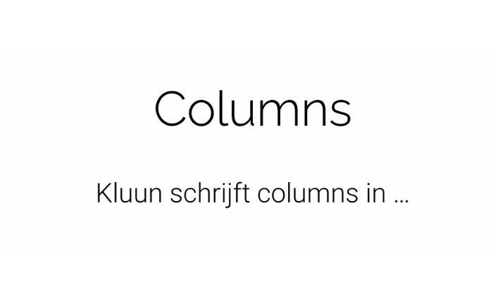Kluun columns