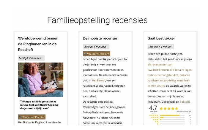 familieopstelling recensies