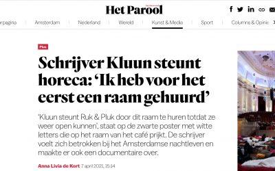 Parool: 'Schrijver Kluun steunt horeca'